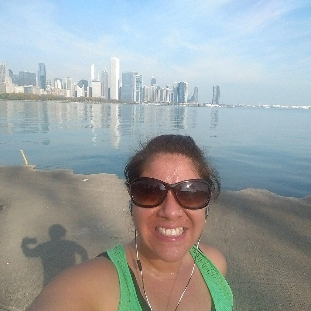 Wendie running in Chicago 2014.