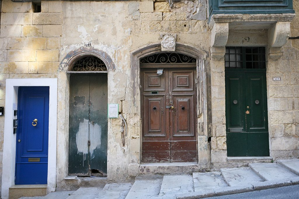 Colorful doors in Valetta, Malta
