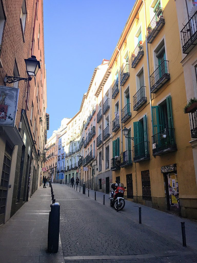 The colorful streets of Madrid are the top things to see during a short stay.