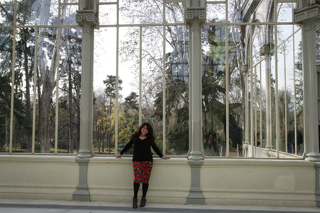 Learning about my Spanish heritage at the Palacio de Cristal.