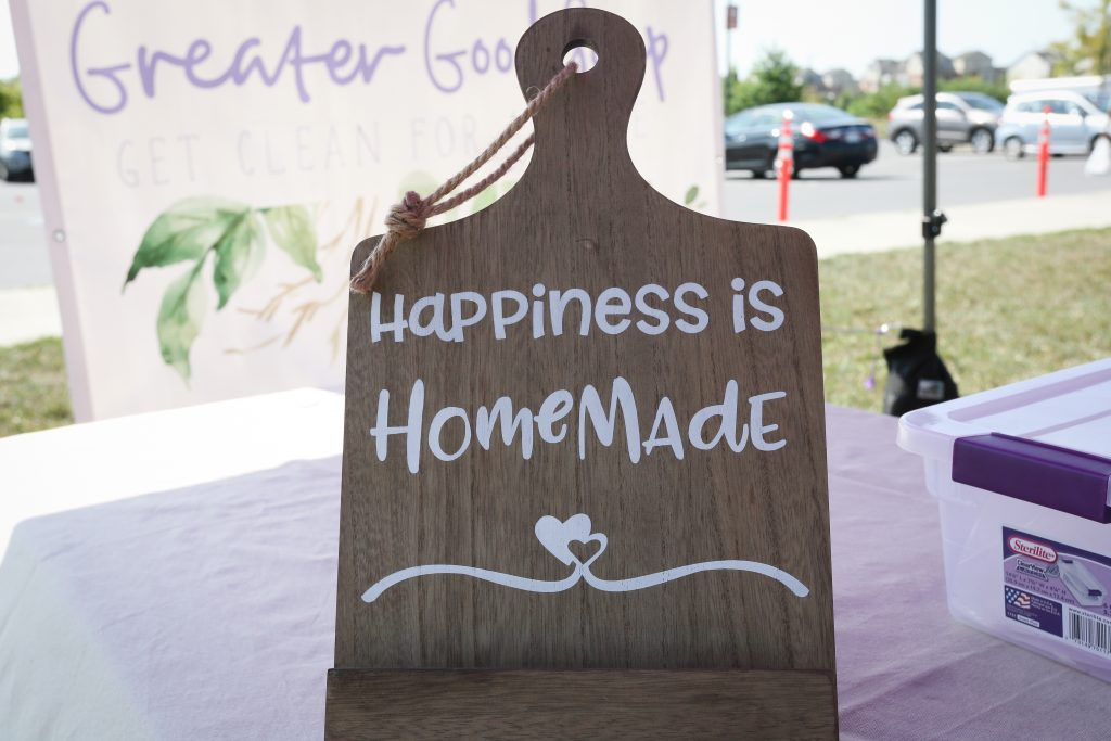 Happiness is homemade sign.