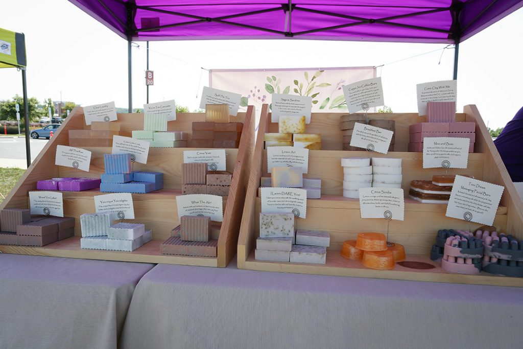 Greater Good Soap display