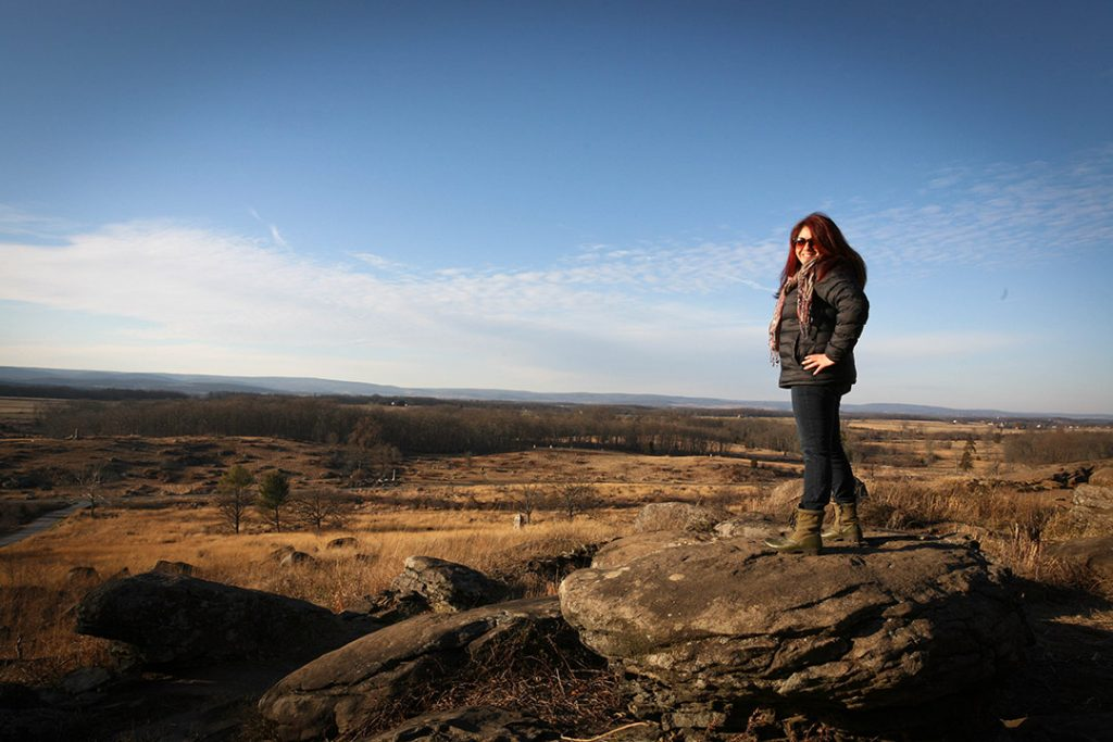 Wendie in Gettysburg, Pennsylvania, conquering the world.
