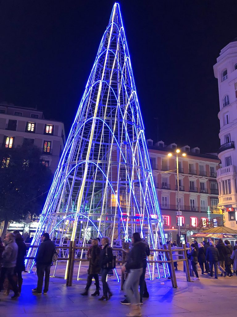 Festive streets of Madrid